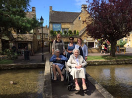 Residents enjoying a trip to stow on the wold
